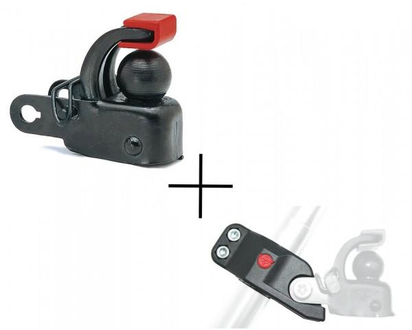 Set Hebie F1 plus Sattelstützadapter für Anhängerkupplung F 1