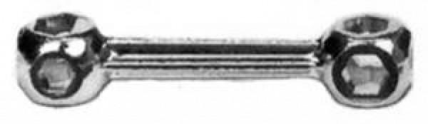 Kopfschlüssel 10 Loch verchromt