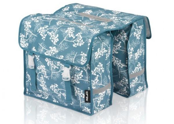 XLC Doppeltasche Fiori blau